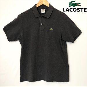 Mens Lacoste Gray Short Sleeve Polo Medium Size 4